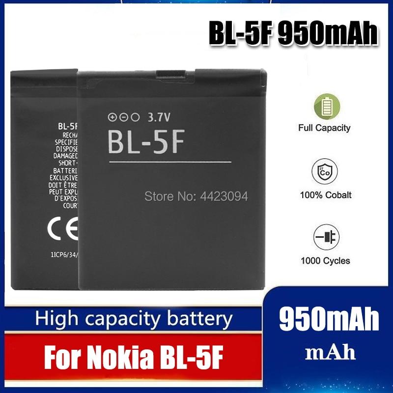 1pc BL5F BL-5F N78 N95 N96 N98 N93i 6290 E65 da bateria Para Nokia 6290 6210S/N 6710N C5-01 bateria BL-5F