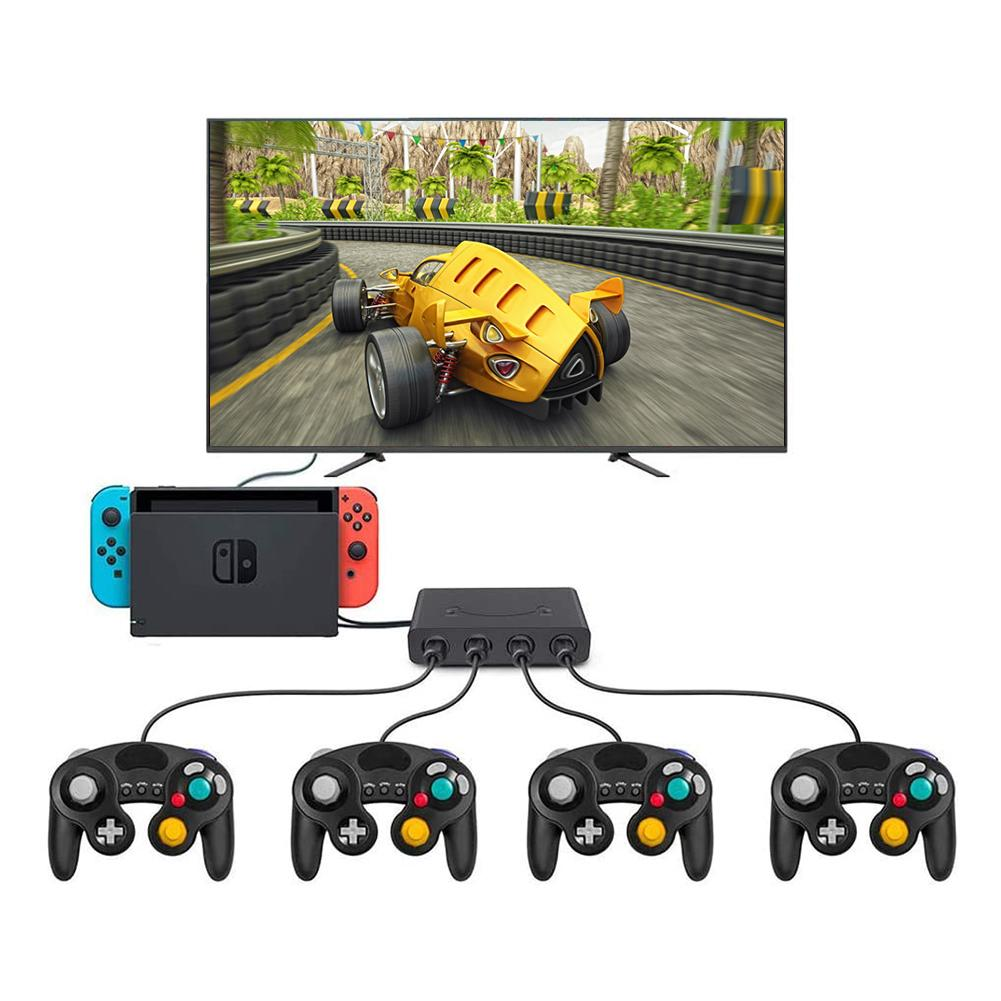 3 In 1 4 Ports GC Handle to Wiiu/PC/Switch Converter Adapter for PC Game GameCube GC Controllers Accessories 2020 Hot enlarge