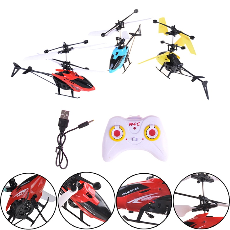 Kids Gift RC Helicopter Mini RC Drone With Crash Gyro Resistant RC Toys For Boy Flying