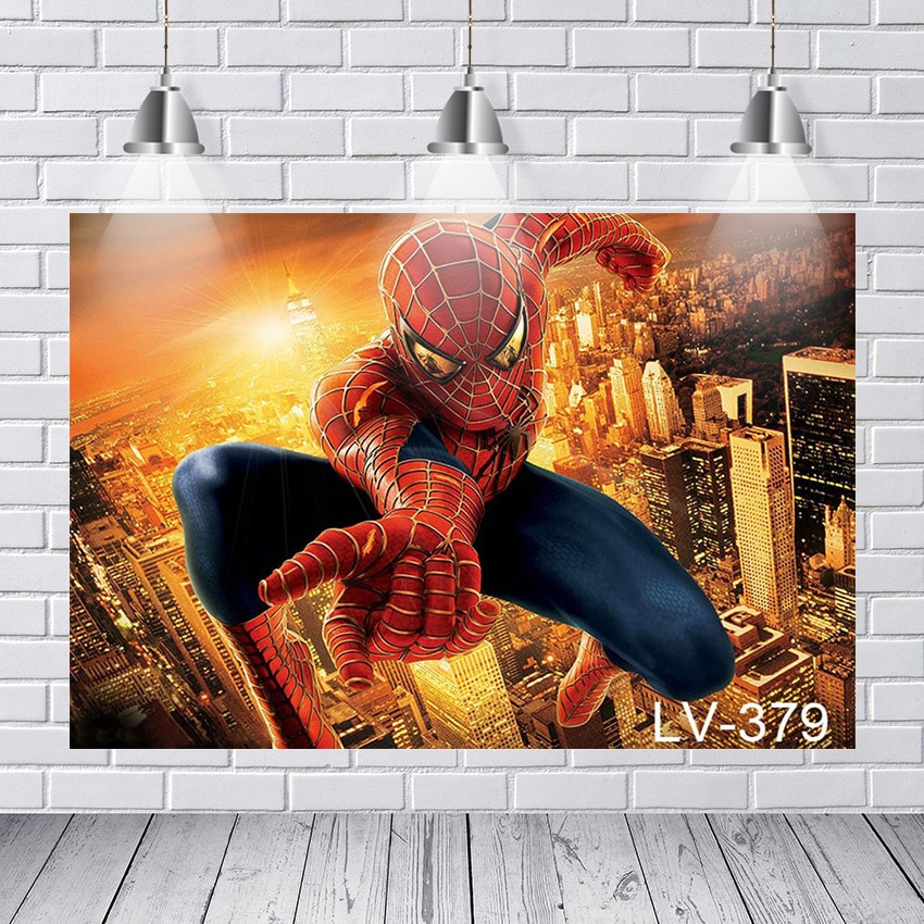 Тема фильма фотографии фонов Человек-паук город фон для фотографии фон для фотостудии Fundo Fotografico