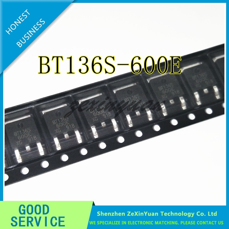 10 unids/lote BT136S-600E TO252 BT136 600E-252 BT136S-600 BTS136S 600E SMD