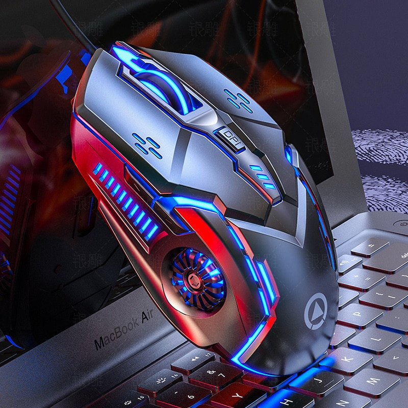 Computer Mouse Gamer Ergonomic Gaming Mouse USB Wired Game Mause 5500 DPI Silent Mice With LED Backlight 6 Button For PC Laptop недорого