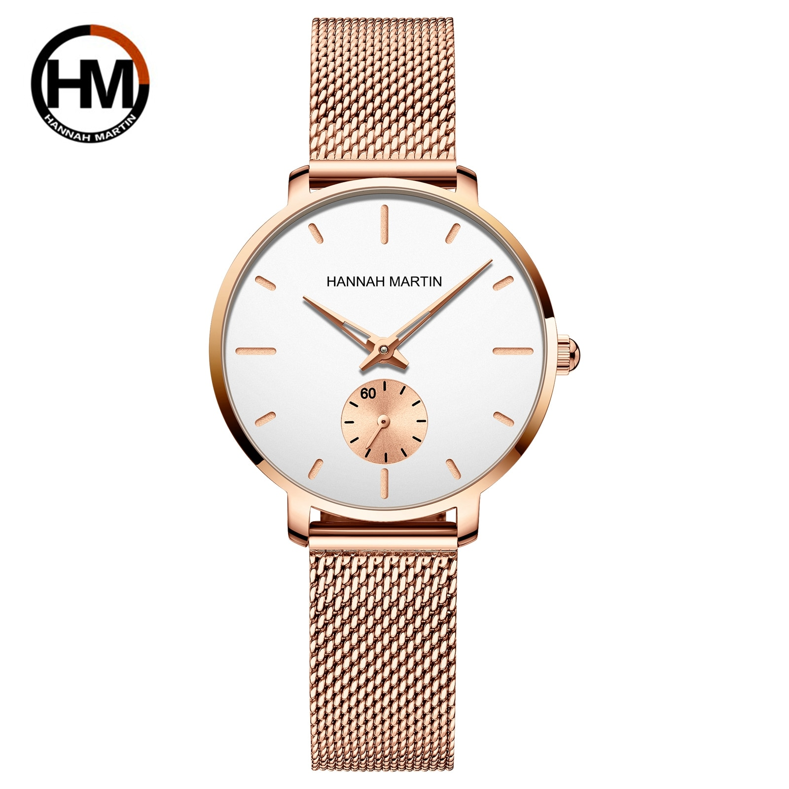 2021New Small Second Hand Simple Fashion Ladies Watch Top Brand Japanese Movement Waterproof Mesh Be