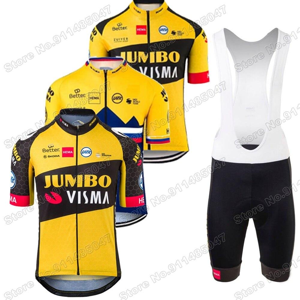 Jumbo Visma-Conjunto de Maillot de ciclismo para hombre, ropa de verano para...