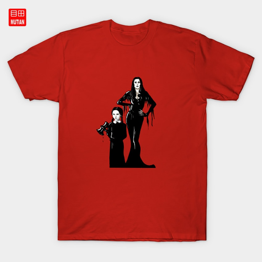 Addams T-Shirt Morticia Wednesday Gomez Morticia Addams Halloween Uncle Fester Digital Wednesday Addams Addams Family