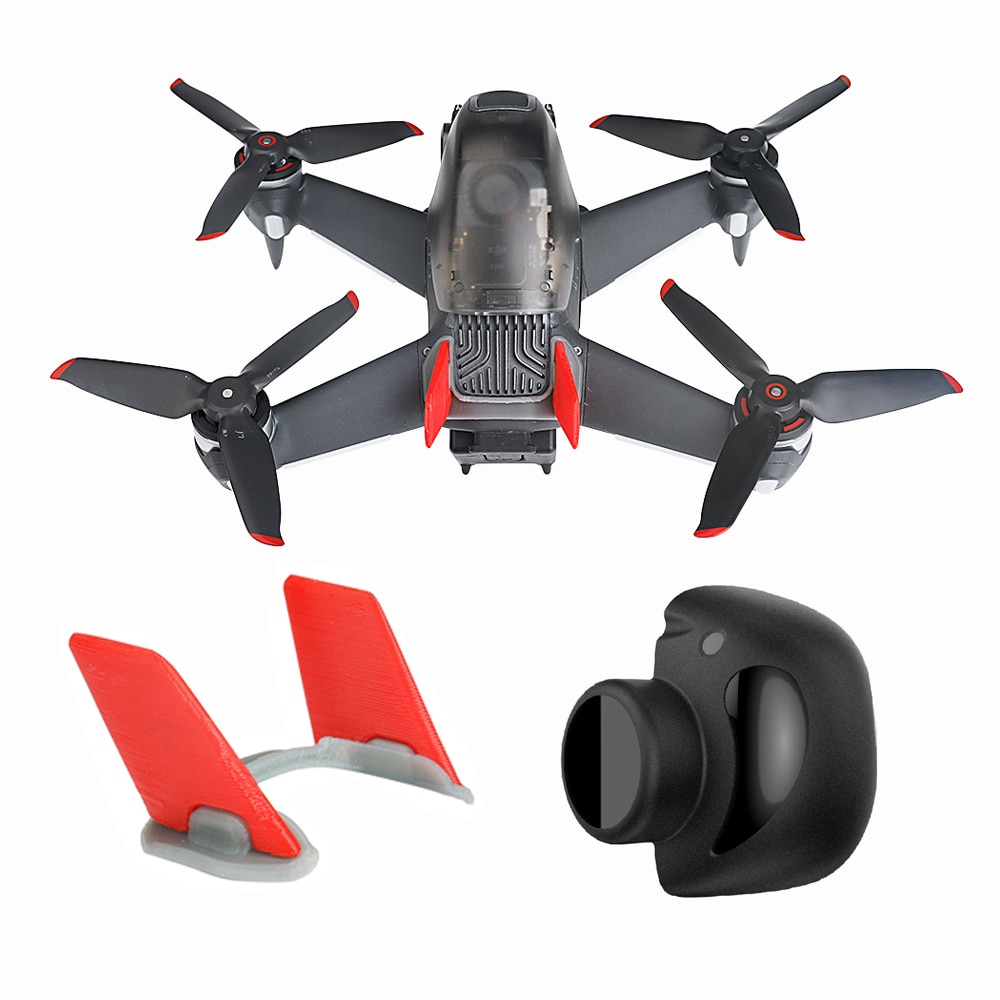 FPV Drone Gimbal Protector Camera Lens Cover Cap Dust Lens Hood Vertical Tail for DJI FPV Combo Dron