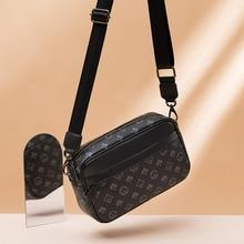 GLMAHUA Casual Black Printed Men Crossbody Bags Fashion Soft Zipper Messenger Bags For Male Vintage