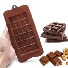 24 Cavity Chocolate Mold Silicone Form Candy Bar Sugar Cake Mold Baking Dish Bakeware Kitchen Ice Block Tray Cake Tool