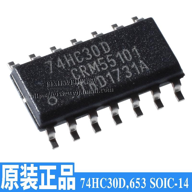10 unids/lote 74HC30D 653 SOIC-14 8 nuevo original en stock