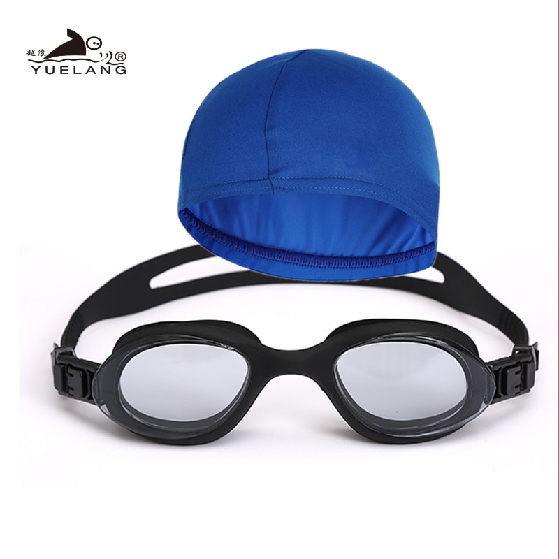 Bathing cap Swimming goggles set Unisex  Plating Waterproof Anti-fog Goggles Adult Professional Swimming Glasses Anti-UV