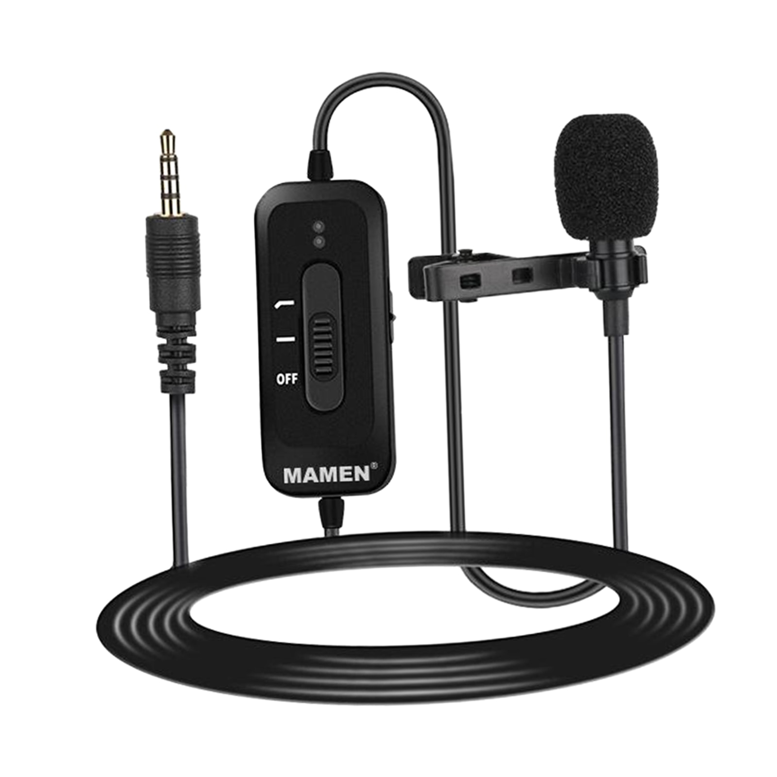 Lavalier Lapel Microphone Condenser Mic Easy Clip for Podcast Vlogging Phone Livestream Video Recording enlarge