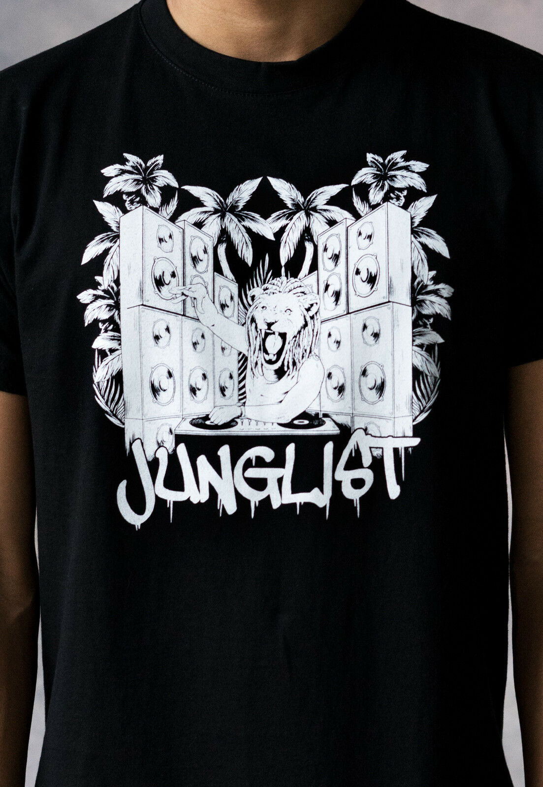 Tambor e baixo leão dj t camisa n & música selva neuropfunk junglist amen masculino t