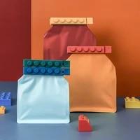 4 pcs set food seal clip building blocks sealing clamp snack bag multi functional household moisture proof kitchen sealer