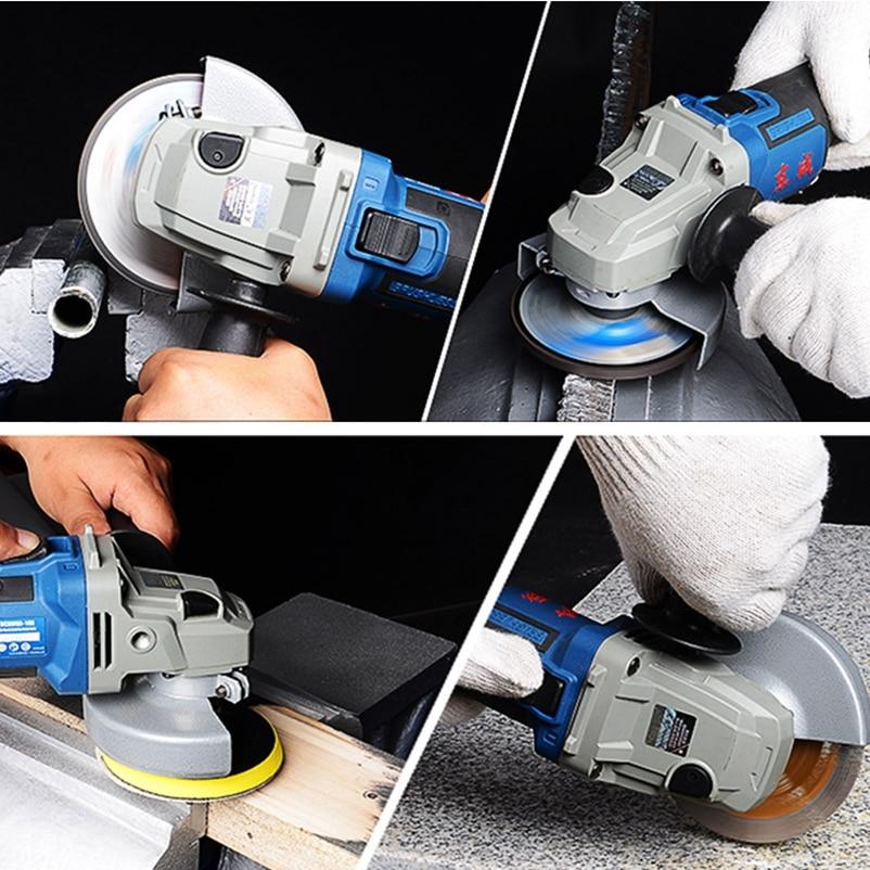 Wuzheng Dongcheng 18V lithium electric angle grinder DCSM02-100 brushless rechargeable thin handle Angle Grinder enlarge