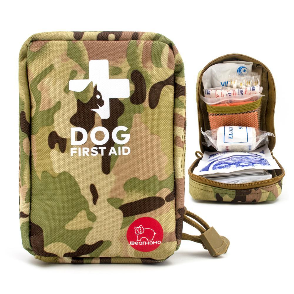 Mini Pet Kit de primeros auxilios kit de supervivencia perro militar rescate de emergencia táctico bolsa médica bolsa de primeros auxilios organizador de medicina