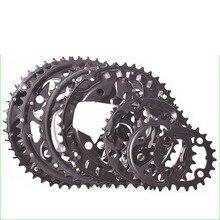 9 velocidades 10 velocidades 22/24/32/42/44T forma redonda cadena de bicicleta 104BCD MTB bicicleta de montaña corona acero bicicleta diente placa piezas
