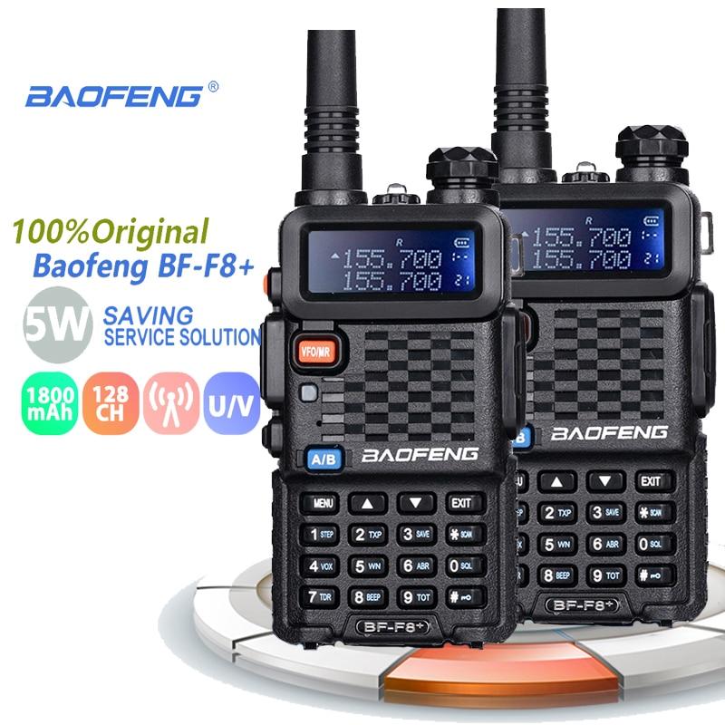 Портативная рация Baofeng BF-F8 +, профессиональная Двухдиапазонная VHF UHF, двухсторонняя радиостанция, Woki Toki, приемопередатчик, Любительское сетев...