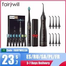 Fairywill Water Flossers ฟัน300ML Oral Irrigator ชาร์จทันตกรรมแบบพกพา3โหมดถังน้ำกันน้ำทำความสะอาดฟัน