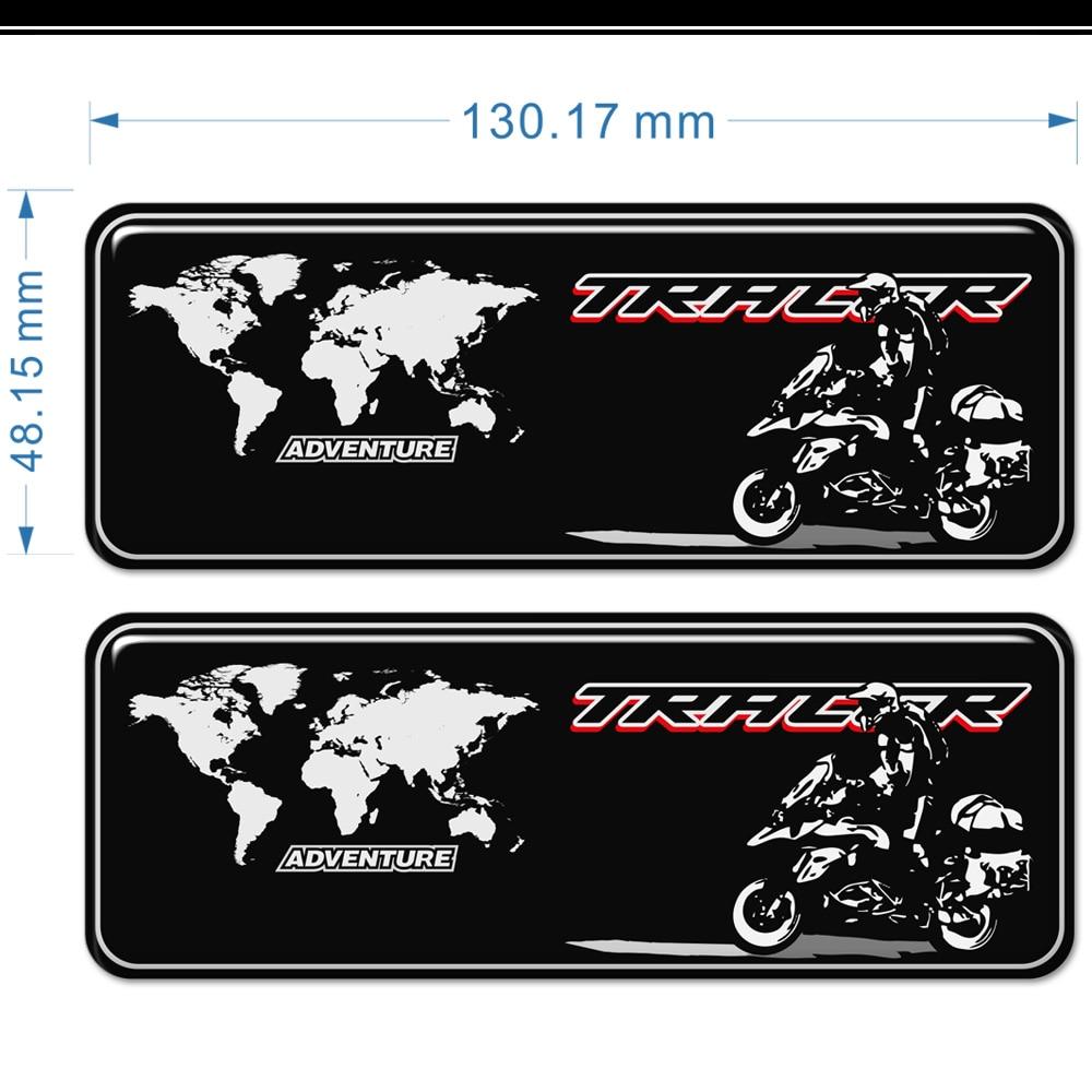 Mala de bagagem para yamaha tracer 700 900 gt mt07 mt09 mt 07 09 almofada do tanque adesivos proteção joelho windscreen windshield 2019 2020