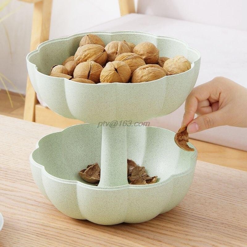 Criativo forma de abóbora lanche bandeja com capa nozes frutas secas placas tigela caixa de doces casa suprimentos cozinha