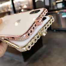 Luxury Bling Diamond Bumper For Iphone 13 12 11 Pro Max X Xr Xs Max 8 7 Plus Case Glitter Rhinestone