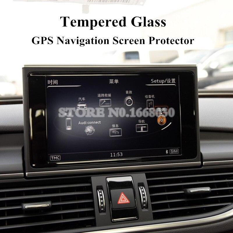 Para Audi A6 S6 A7 S7 de vidrio templado para pantalla de navegación GPS Protector