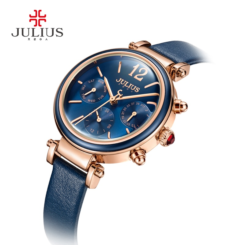 Julius Brand Creative Watches Women Fashion Chronos Quartz Watch Retro Vintage Montre Femme Auto Day Date Female Clock JA-958 enlarge