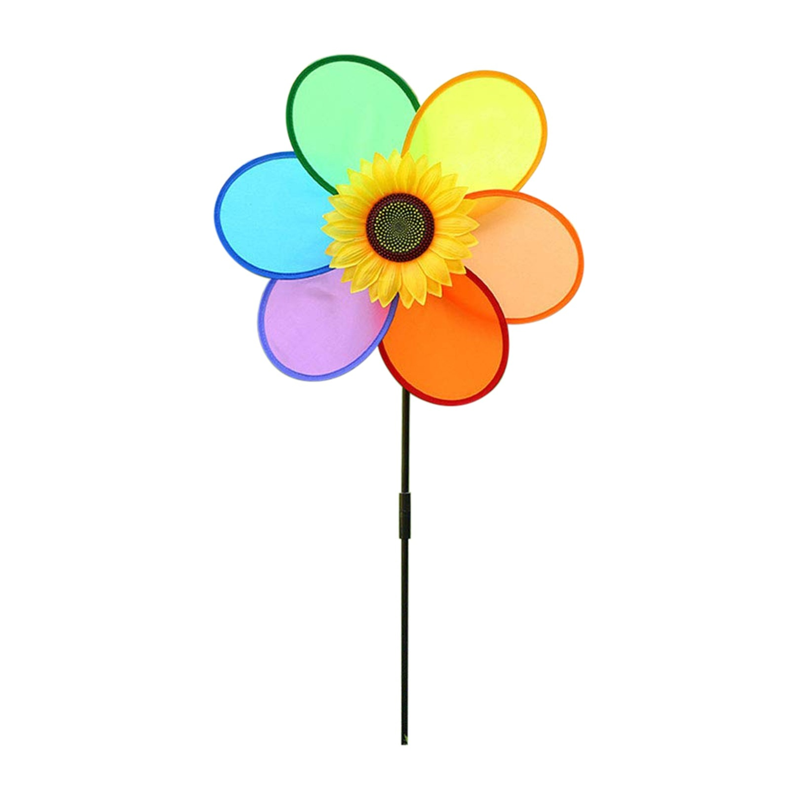Wind Spinners Outdoor Decoration Windmill Spinner Rainbow-flower Yard Garden Wind-home Toy Easy Removal Diy Multicolour Lawn