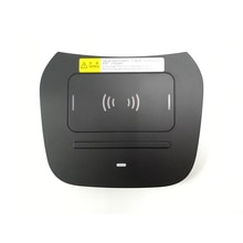 15W car QI wireless charger for Hyundai IX45 Grand Santa Fe phone fast charging 2015 2016 2017 2018 charging plate accessories