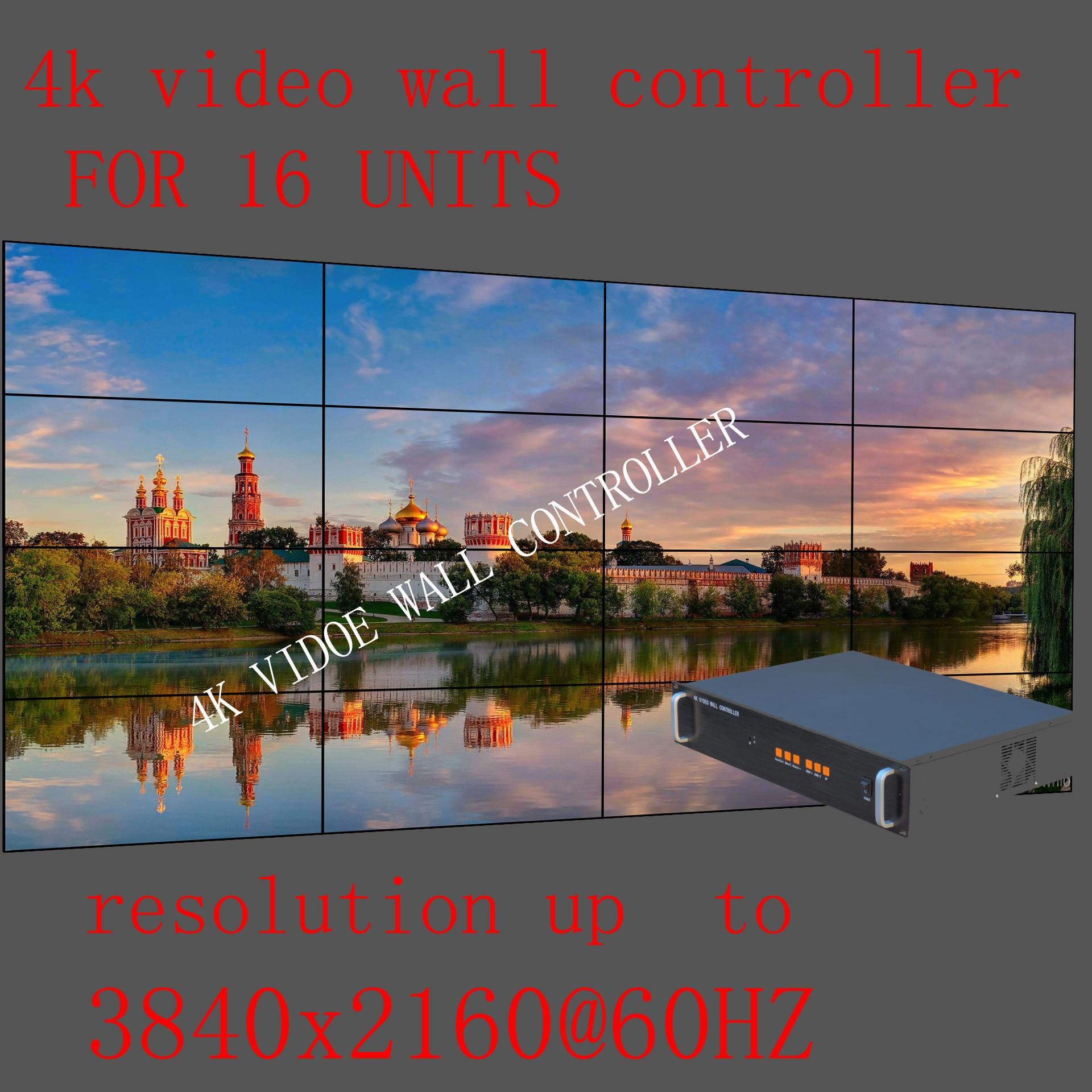 Controlador de pared de vídeo 4x4 4 K, controlador de pared de TV HDMI para 16 unidades, procesador de pared LCD 16, admite entrada de señal 4K @ 60HZ