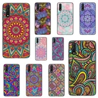 african style fabric print phone case for honor 8a 5 7 10i 9 10 20 30 v 7 9 honorview pro cover fundas coque
