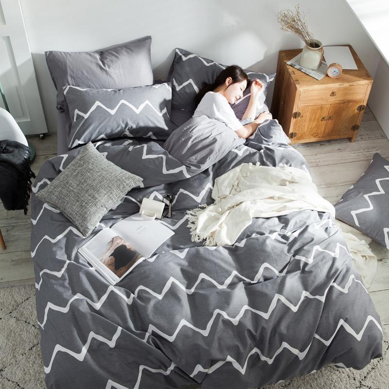 طقم سرير غطاء لحاف الشمال 150 منقوشة سرير ملكة 135 مزدوجة الملك الحجم المعزي واحدة التوأم المنسوجات المنزلية غرفة نوم pillow