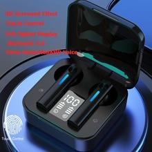 Наушники вкладыши TWS Bluetooth 5,0 наушники Беспроводной наушники 9D стерео Спортивные Игры Bluetooth гарнитуры С микрофоном сенсорный Управление
