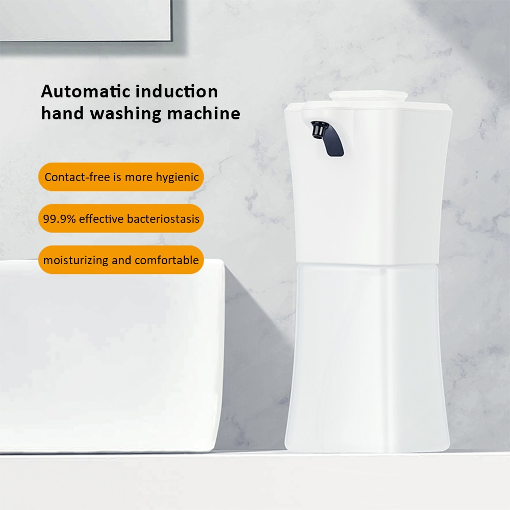 Home Soap Dispenser Automatic No Touch Soap Dispenser Wall Mounted Foam Soap Dispenser Battery Operation for Washroom Kitchen