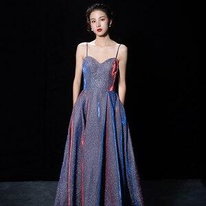 Evening Dresses Long Floor Length Party Gown Formal For Women A-line Evening Dress Spaghetti Strap Long Dress Robe De Soiree
