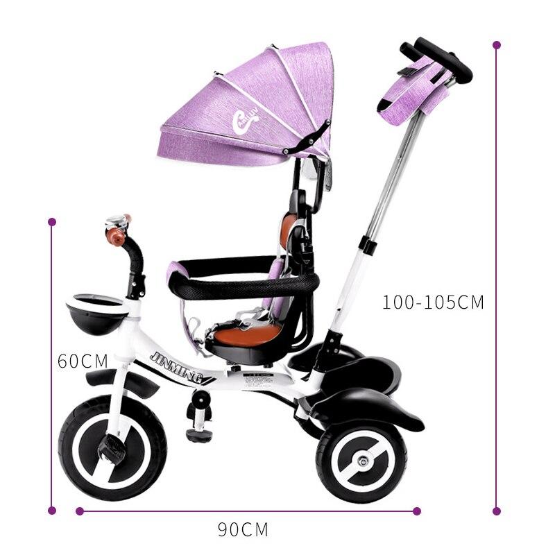 Child Tricycle Easy Folding Bicycle Rotatable Seat Baby Trolley Three Wheel Baby Stroller Kids Bike Pram Baby Carriage 6M-6Y enlarge
