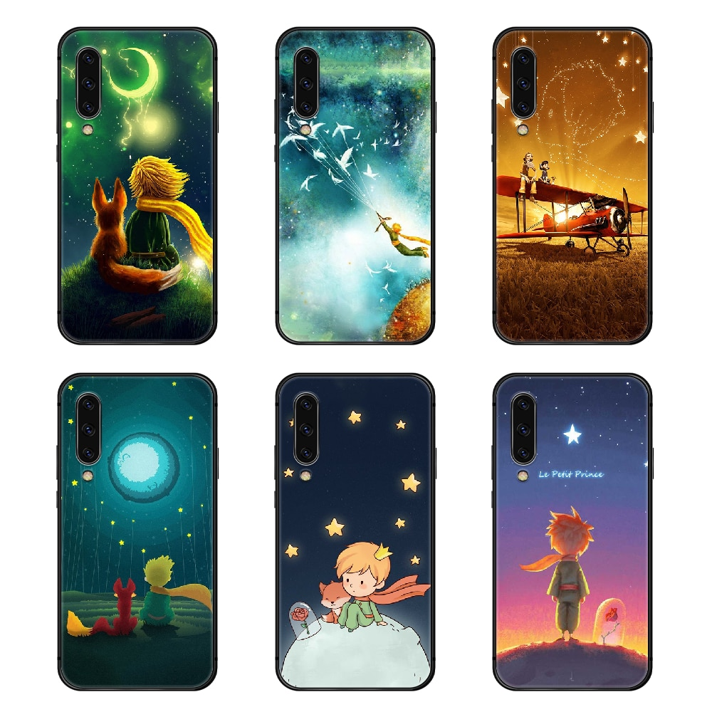 Le Petit Prince Cute Phone Case Cover For Samsung Galaxy A10 A20 A30 E A40 A50 A51 A70 A71 J 5 6 7 8 S black bumper pretty back