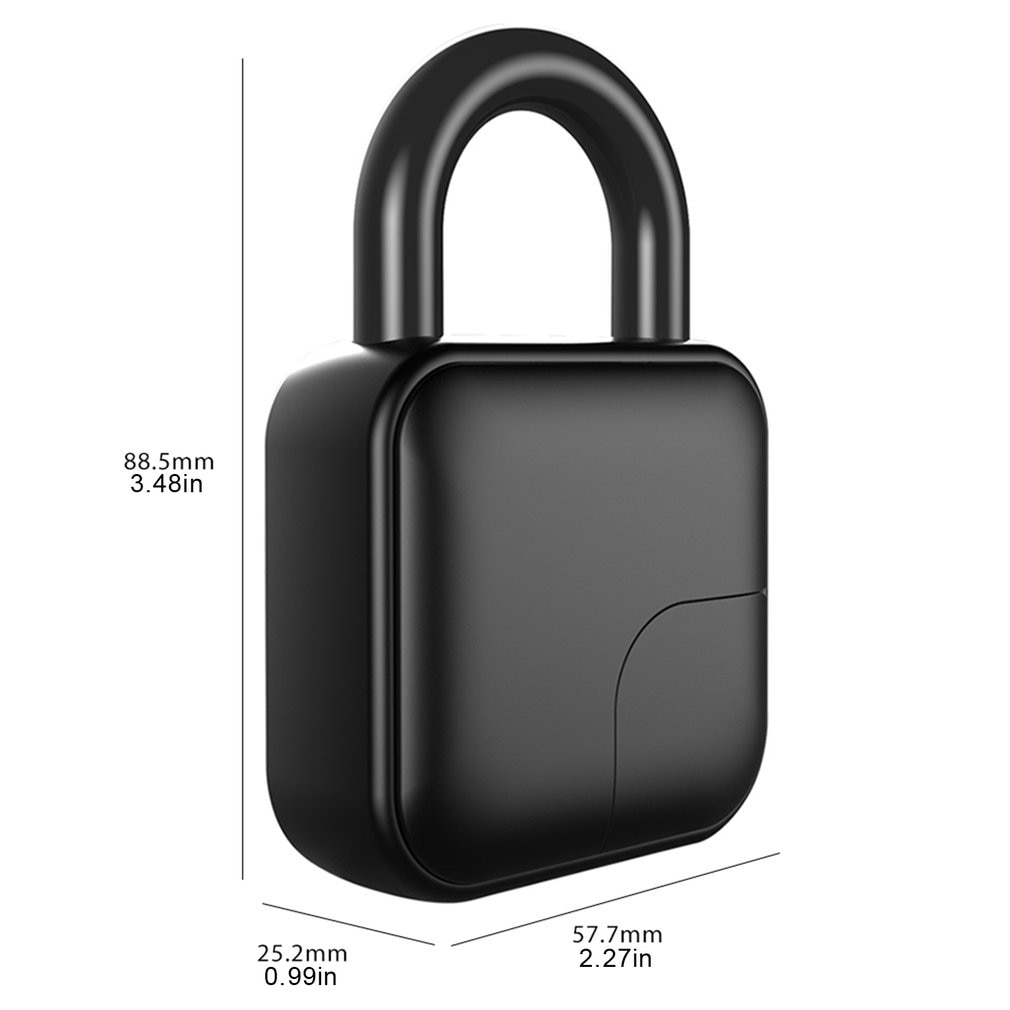 L3 Pure Fingerprint Unlock Smart Fingerprint Door Lock Safe Padlock USB Charging Waterproof Keyless Anti-theft Lock enlarge