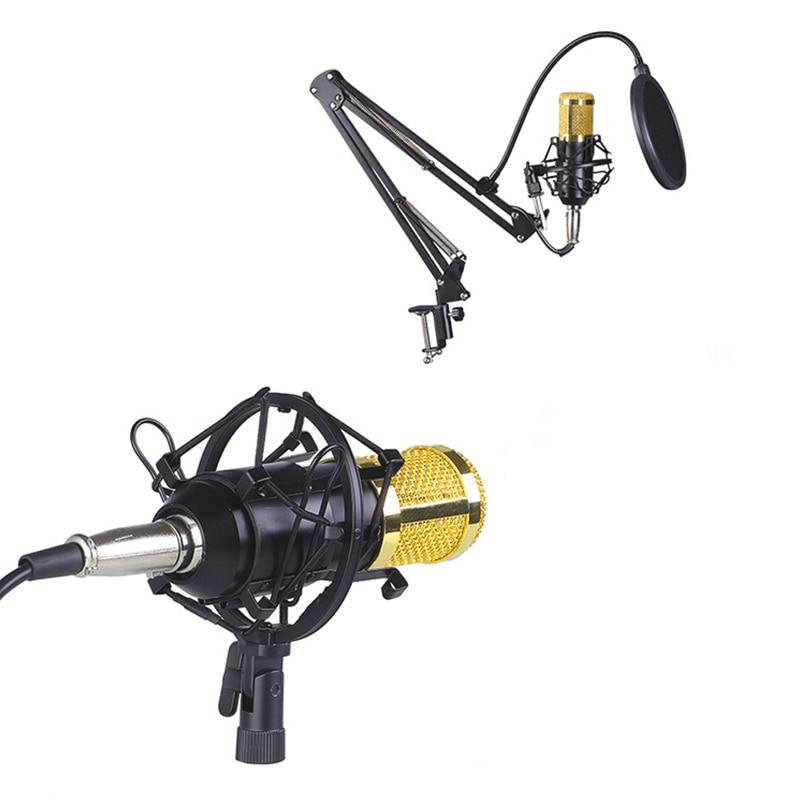 BM800 Condenser Microphone Professional Voice Recording Microphone for Phone PC Microphone Mic Kit Karaoke Sound Card Microphone enlarge