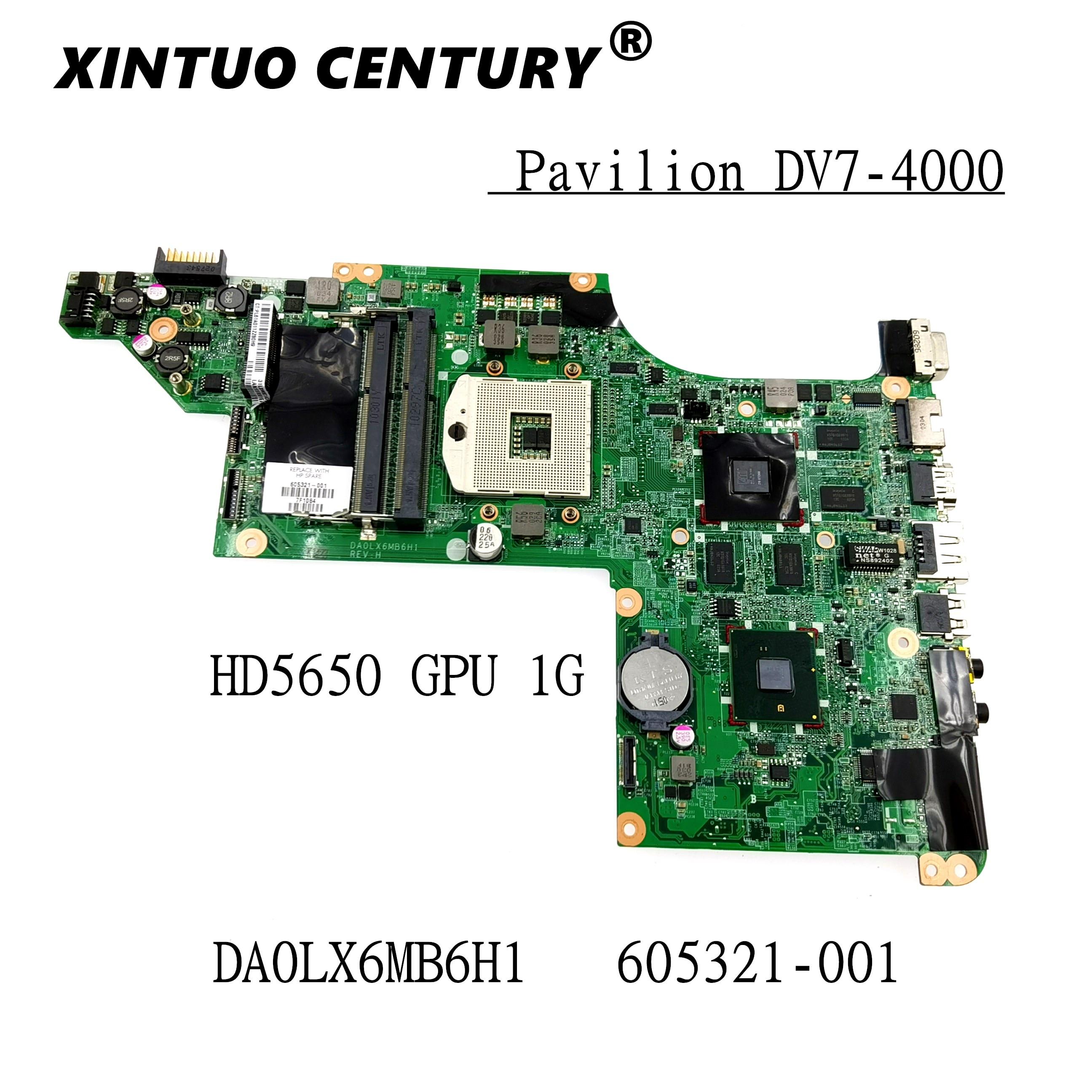 Placa base para HP dv7-4000 DV7T, DA0LX6MB6G2, DA0LX6MB6F1, DA0LX6MB6H1, 605321-001