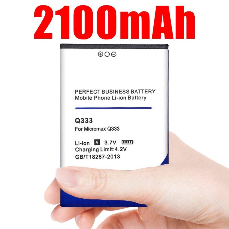 1 Uds 3,7 V 2100mAh Li-ion batería para Micromax Q333 teléfono móvil