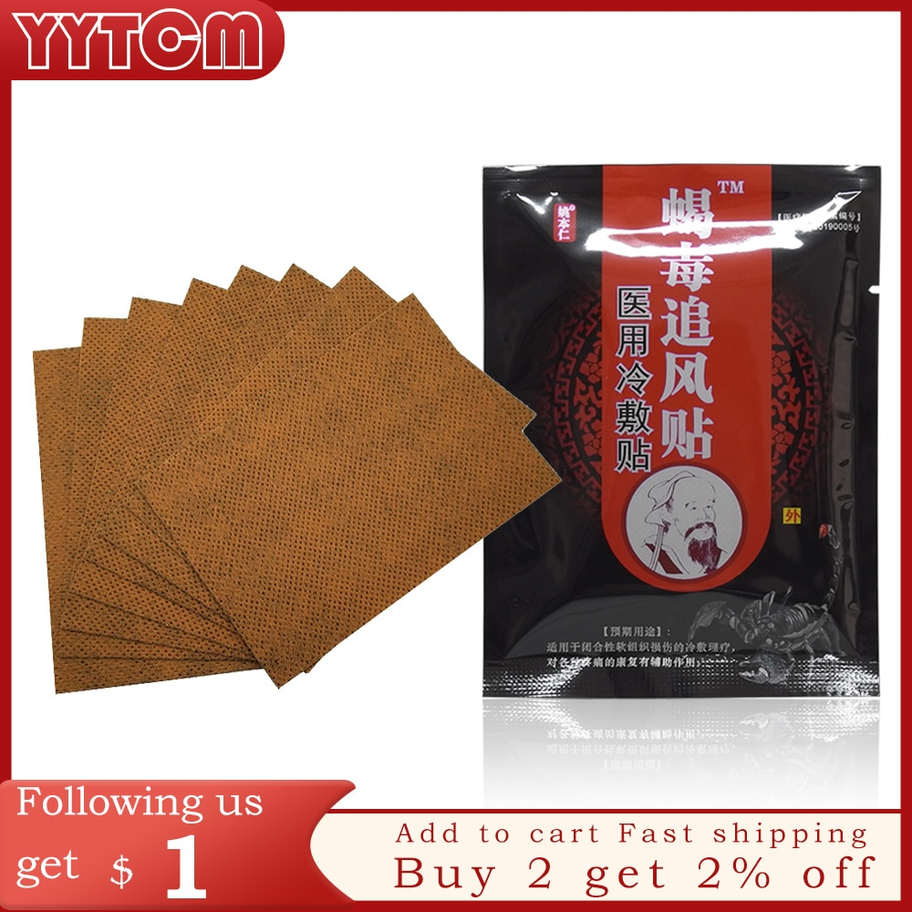 Knee for Joints Pain Relieving Patch Scorpion Venom Extract for Body Pain Relief massager Patches health care health