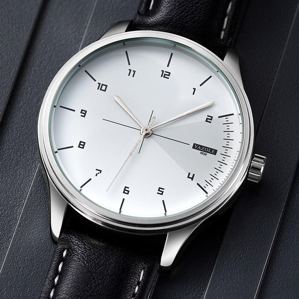 Novo yazole moda relógio de quartzo dos homens relógios de topo da marca de luxo masculino relógio de pulso de negócios masculino reloj hombre