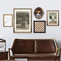 Affiches de Style Pastoral europeen  mode retro  peinture sur toile  images murales dart  Portrait  decoration de maison
