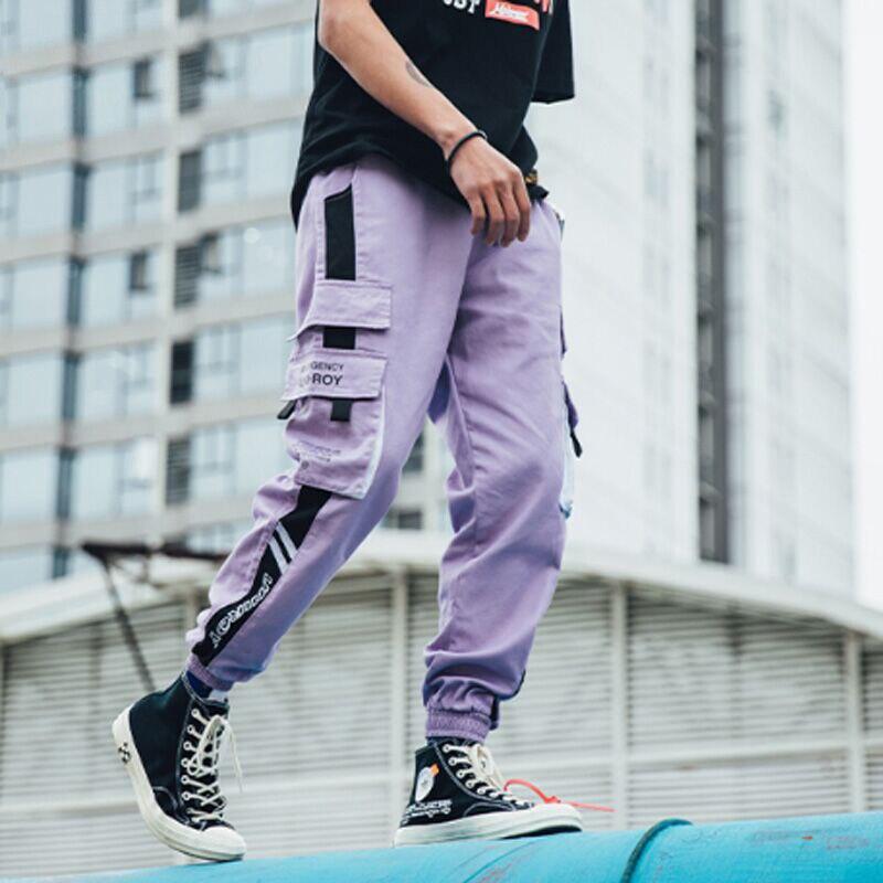 LACIBLE-بنطلون كارغو للرجال ، ملابس الشارع ، غير رسمي ، خصر مرن ، ركض ، هيب هوب ، 2020