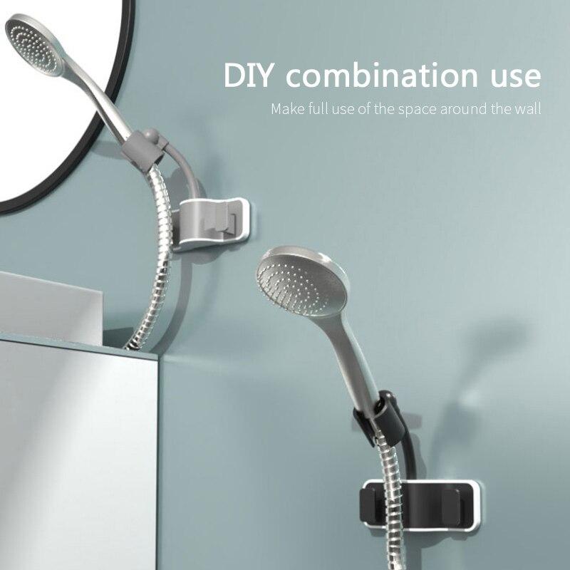 Shower Mounting Brackets 360° Adjustable Bracket Suction Shower Head Handset Holder Kit Bathroom Wall Mount Bathroom Fixture