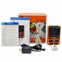 Imprimante détiquettes PUTY PT-50DC entièrement automatique Bluetooth Machine sans fil thermique reçu imprimante détiquettes MINI imprimante Portable Mobile