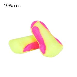 10 Pairs Disposable Foam Earplugs Snore Sleep Hearing Protections Ear Protector Earplugs Earmuff