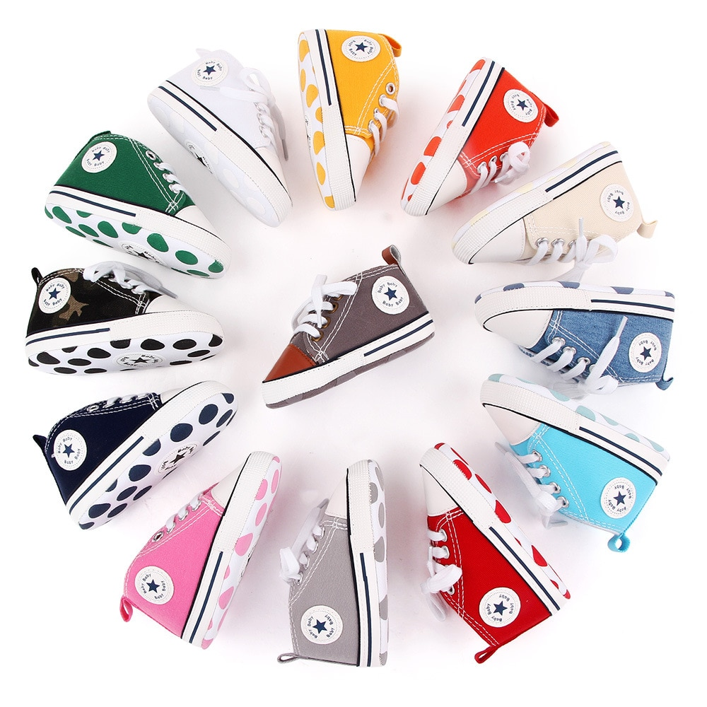 New Canvas Classic Sports Sneakers Newborn Baby Boys Girls First Walkers Shoes Infant Toddler Soft S