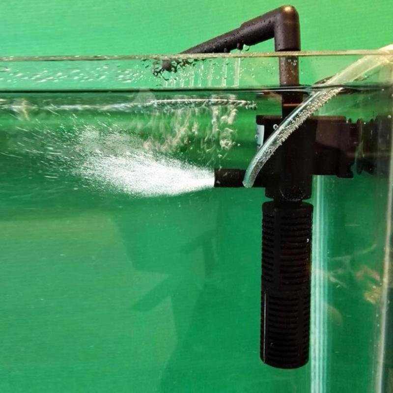 Bomba de aire para acuario de 3W y 5W, bomba de oxígeno para aumentar el filtro de la bomba de oxígeno para filtración de agua de acuario, bomba sumergible de oxígeno